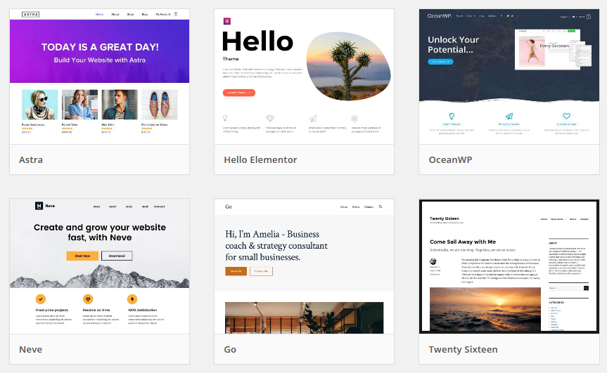 Free wordpress themes for your website